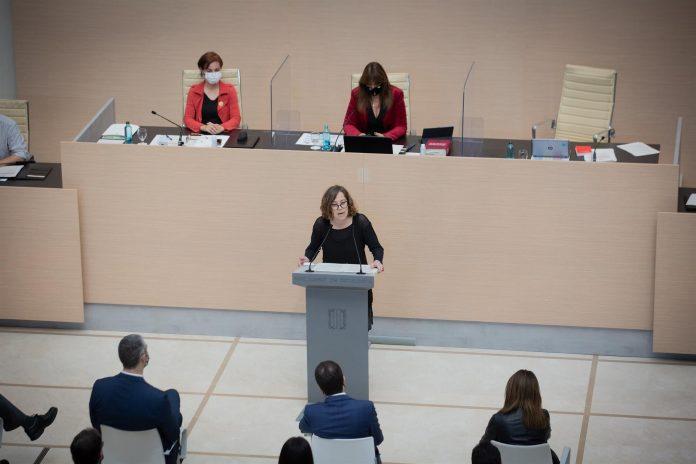 La diputada de la CUP en el Parlament Eulàlia Reguant